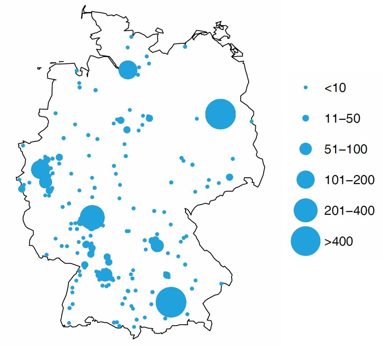 Mapping the data science hotspots in Germany | datacareer.de on